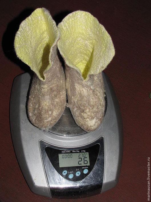 """Обувь ручной работы. Ярмарка Мастеров - ручная работа. Купить Пинетки """"Первые валеночки"""".. Handmade. Пинетки, меринос итальянский"""