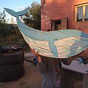 Картины и панно ручной работы. Ярмарка Мастеров - ручная работа Кит из паллет (табличка из дерева / деревянное панно из поддонов). Handmade.