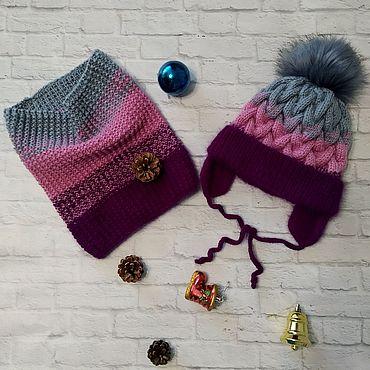 Одежда ручной работы. Ярмарка Мастеров - ручная работа Вязаная шапка и снуд. Handmade.