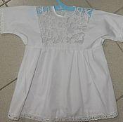 Русский стиль ручной работы. Ярмарка Мастеров - ручная работа именные крестильные рубашки. Handmade.