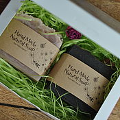 Косметика ручной работы. Ярмарка Мастеров - ручная работа Подарочный набор на 2 кусочка натурального мыла. Handmade.