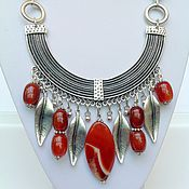 Украшения handmade. Livemaster - original item Set of natural stones in the ethnic style of the Eden Gardens.. Handmade.