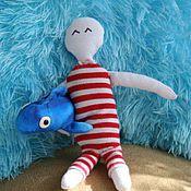 """Куклы и игрушки ручной работы. Ярмарка Мастеров - ручная работа кукла """"Ян и рыба"""". Handmade."""