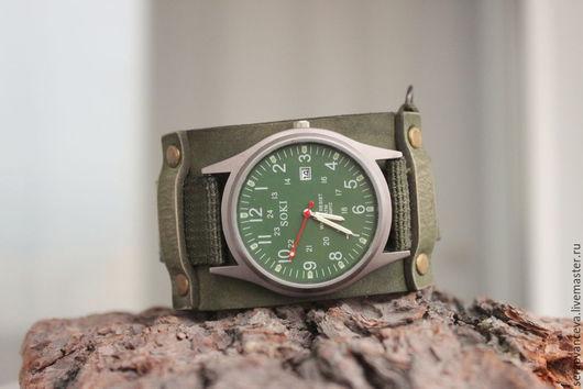 Часы ручной работы. Ярмарка Мастеров - ручная работа. Купить Ремешок на ваши часы № 12. Handmade. Хаки