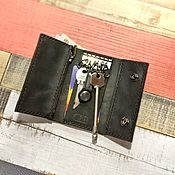 Сумки и аксессуары handmade. Livemaster - original item The housekeeper with a pocket for bills and pocket for coins. Handmade.