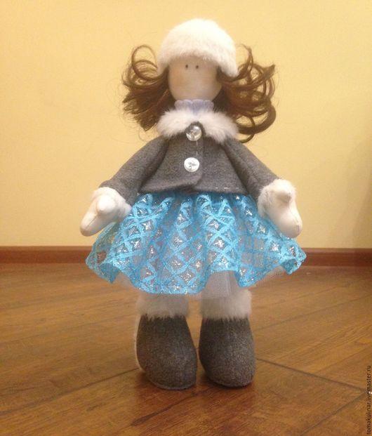 Коллекционные куклы ручной работы. Ярмарка Мастеров - ручная работа. Купить Большеножка-Зима. Handmade. Бирюзовый, большеногая кукла