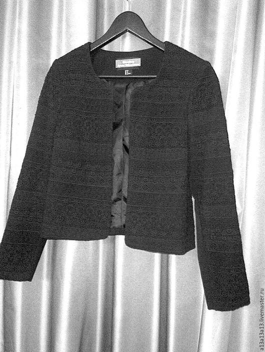 Пиджаки, жакеты ручной работы. Ярмарка Мастеров - ручная работа. Купить Жакет У-77. Handmade. Черный, авторская одежда