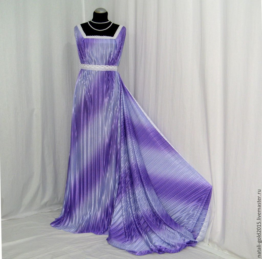 Платье из ткани плиссе сшить 77