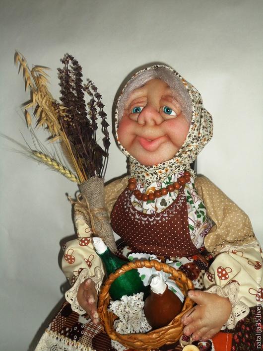 Коллекционные куклы ручной работы. Ярмарка Мастеров - ручная работа. Купить Старушка -травница. Handmade. Разноцветный, старушка, деревня
