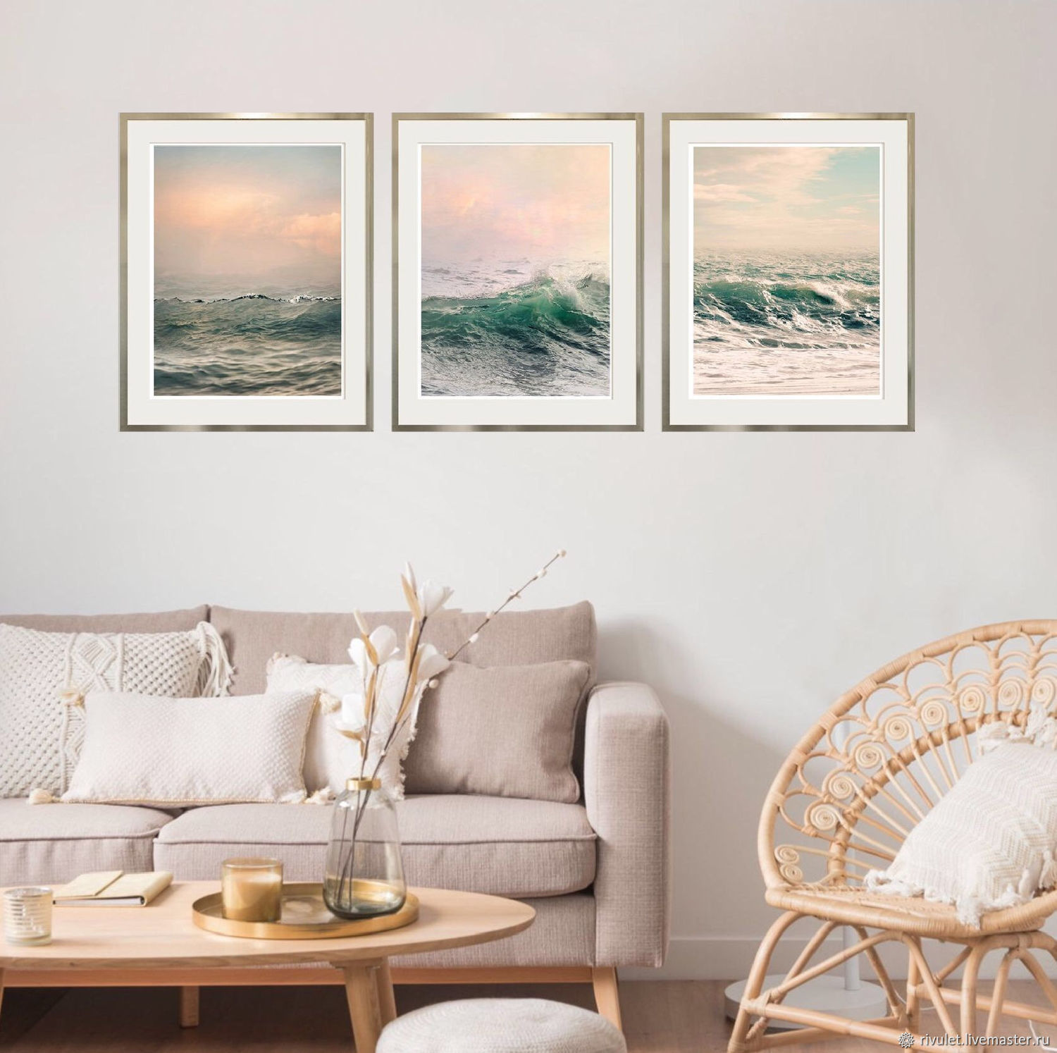 Seascape Photo Paintings For Bedroom