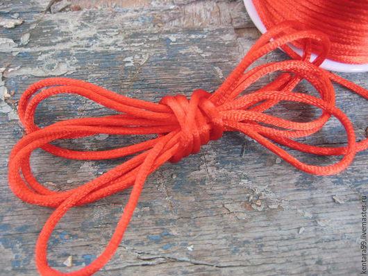 Для украшений ручной работы. Ярмарка Мастеров - ручная работа. Купить Шнур 3 мм красный атласный. Handmade.