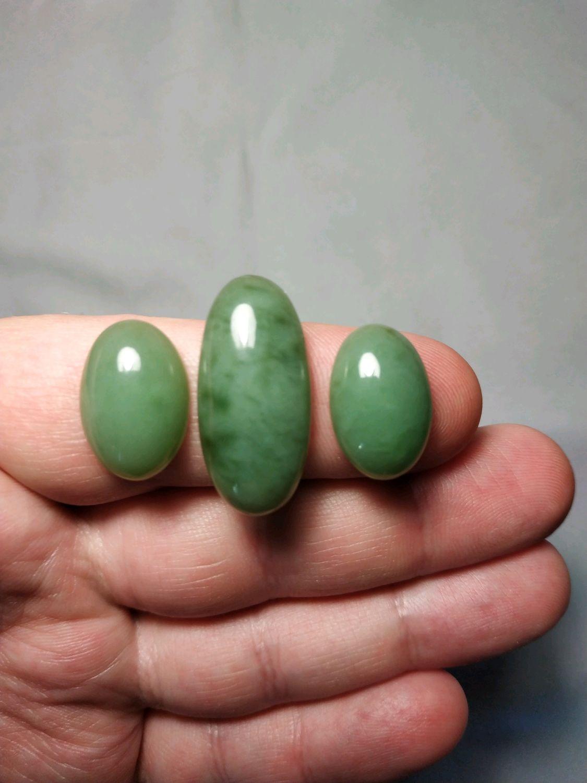 Grey-blue jade cabochons set, Cabochons, Murom,  Фото №1