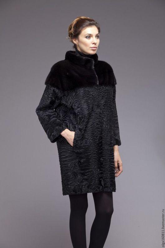 Верхняя одежда ручной работы. Ярмарка Мастеров - ручная работа. Купить меховое пальто из Swakara(свакра). Handmade. Черный, пальто женское