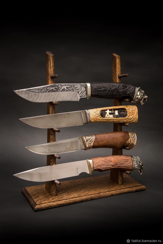 Подставка для 5 ножей из массива дуба, Ножи, Ворсма,  Фото №1