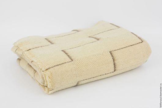Текстиль, ковры ручной работы. Ярмарка Мастеров - ручная работа. Купить Одеяло цвет слоновая кость, 100% шерсть. Handmade.