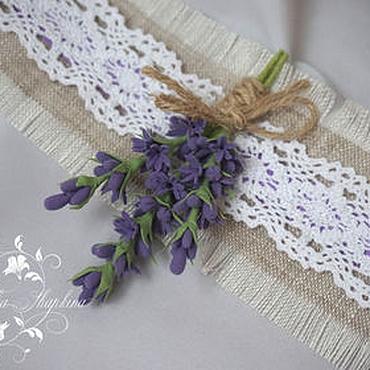 Свадебный салон ручной работы. Ярмарка Мастеров - ручная работа Браслетик-повязочка для подружек невесты с лавандой. Handmade.