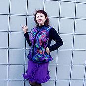 Одежда ручной работы. Ярмарка Мастеров - ручная работа Жакет валяный- вселенная.. Handmade.