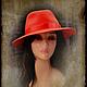 """Шляпы ручной работы. Ярмарка Мастеров - ручная работа. Купить Федора """"Красная смородина"""". Handmade. Шляпа, ярко-красный"""