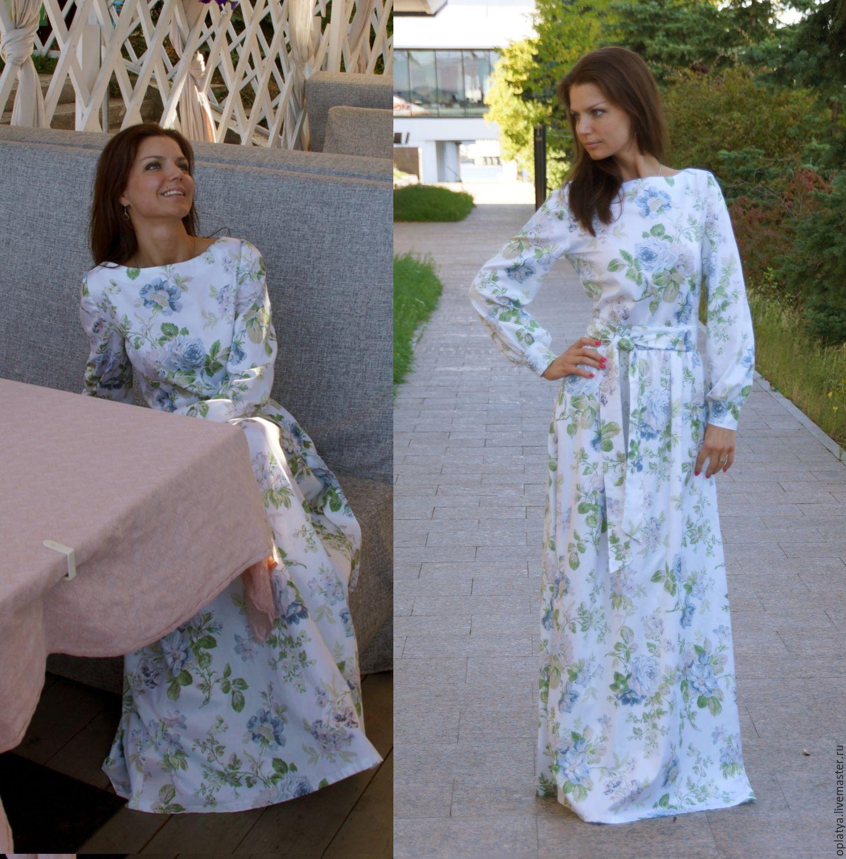 Платье в пол летнее в цветы