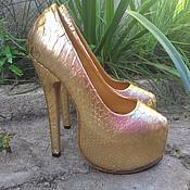 Обувь ручной работы. Ярмарка Мастеров - ручная работа туфли  Gold.. Handmade.