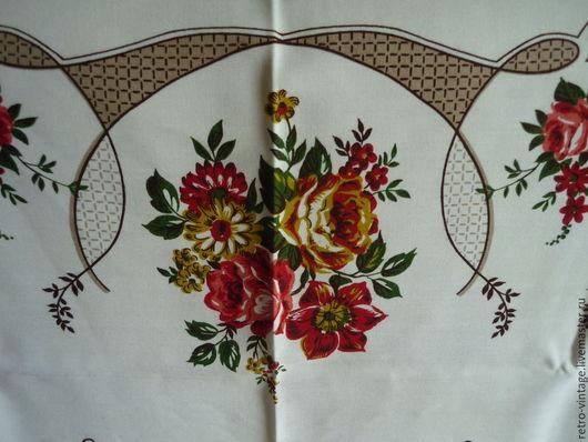 Винтажные предметы интерьера. Ярмарка Мастеров - ручная работа. Купить Скатерть Цветочная винтаж, размер 190 х 120.. Handmade.