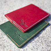Канцелярские товары handmade. Livemaster - original item Passport cover leather Horween. Handmade.
