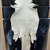 Материалы для творчества handmade. Livemaster - original item Krast crocodile skin (not painted leather), the ventral portion of the.. Handmade.