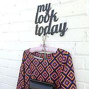 Для дома и интерьера ручной работы. Ярмарка Мастеров - ручная работа Интерьерна вешалка My look today. Handmade.