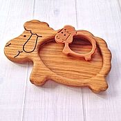Посуда handmade. Livemaster - original item Children`s wooden plate Sheep. Handmade.