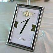 Свадебный салон ручной работы. Ярмарка Мастеров - ручная работа Номера для столиков ( арт. 0002). Handmade.