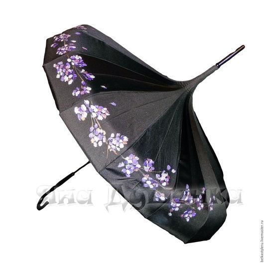Зонт-пагода черный женский купить