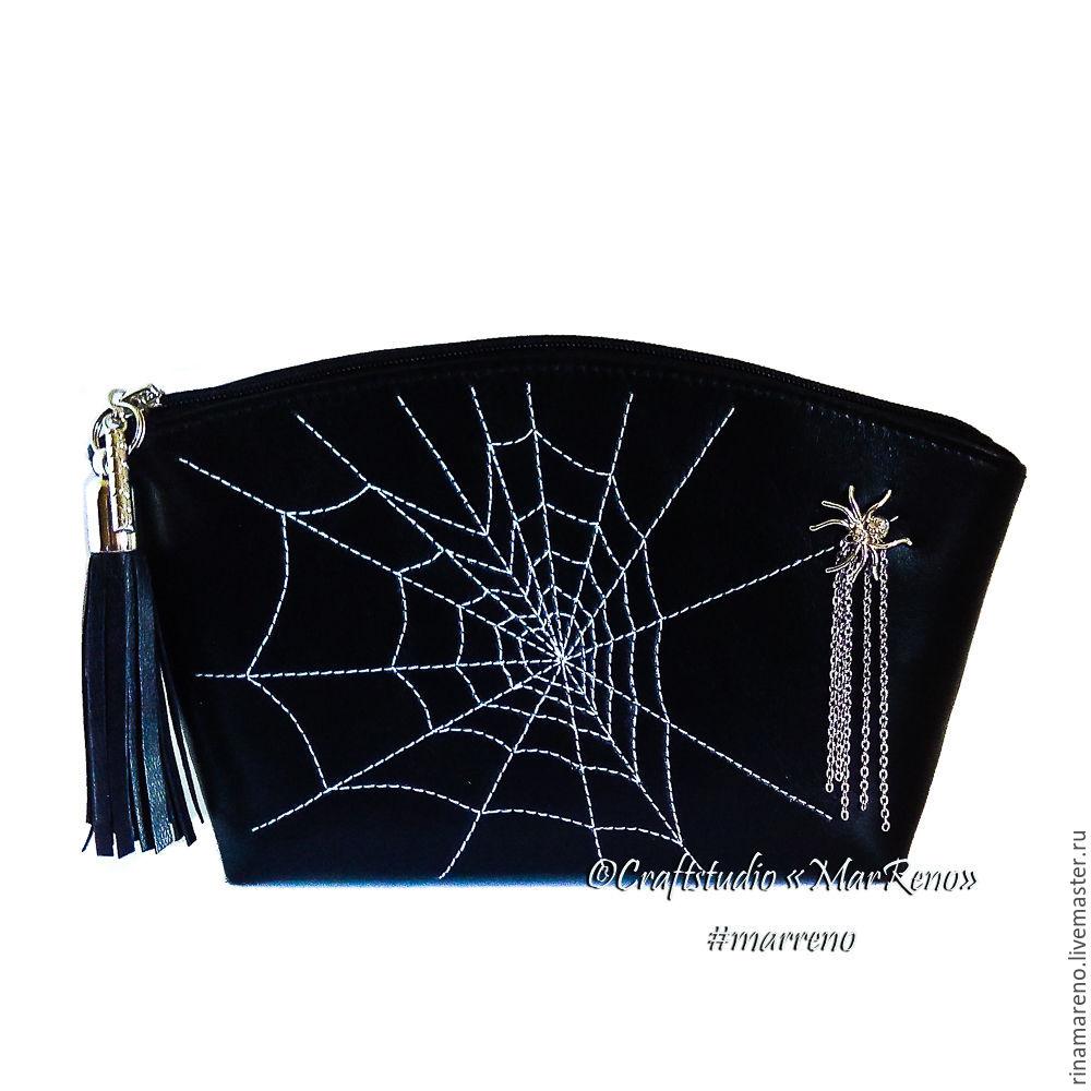 Bolso de embrague-cosmético del bolso de cuero Trepador amor', Clutches, St. Petersburg,  Фото №1