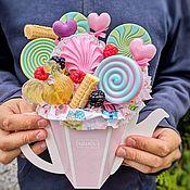 Мыло ручной работы. Ярмарка Мастеров - ручная работа Чайник с леденцами из мыла. Handmade.