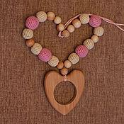 Одежда ручной работы. Ярмарка Мастеров - ручная работа Слингобусы можжевеловые Розовые с сердцем. Handmade.