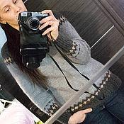 Одежда ручной работы. Ярмарка Мастеров - ручная работа Свитер с жаккардовым узором.. Handmade.