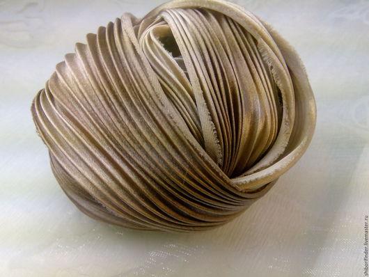 Для украшений ручной работы. Ярмарка Мастеров - ручная работа. Купить Ленты Шибори Silk Ribbons Shibori №100 Горячий шоколад. Handmade.