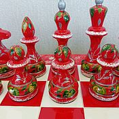 Куклы и игрушки handmade. Livemaster - original item Chess sets made of wood, the gift of