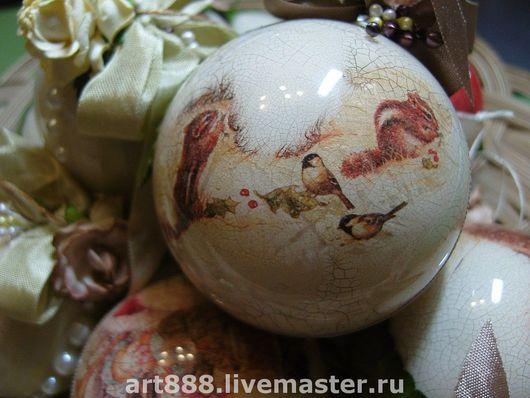 Новый год 2017 ручной работы. Ярмарка Мастеров - ручная работа. Купить ёлочные шары. Handmade. Винтажный стиль, пластик