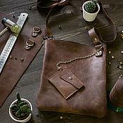 Классическая сумка ручной работы. Ярмарка Мастеров - ручная работа Сумка Тоскана коричневая. Handmade.