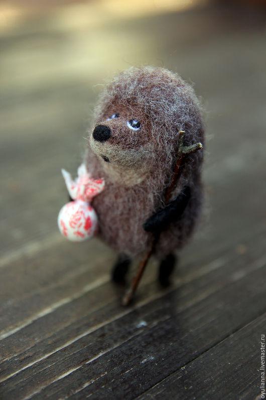 """Сказочные персонажи ручной работы. Ярмарка Мастеров - ручная работа. Купить """"Ежик в тумане """", интерьерная игрушка. Handmade."""