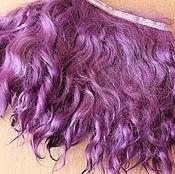 Материалы для творчества handmade. Livemaster - original item Mohair tress (violet) (accessories for dolls). Handmade.