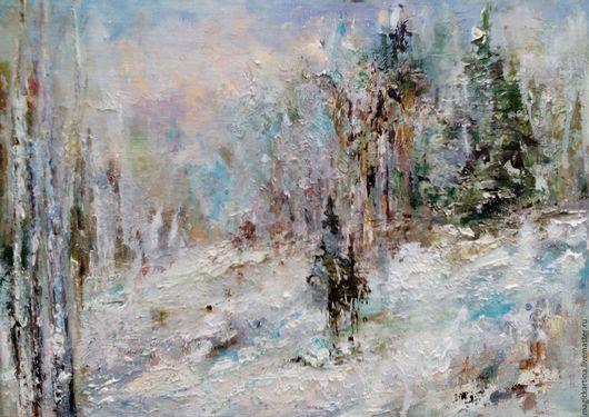 `Зимушка` - картина маслом, зимний пейзаж