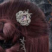 Украшения handmade. Livemaster - original item Hairpin with chalcedony stone