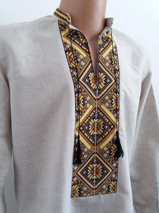 """Этническая одежда ручной работы. Ярмарка Мастеров - ручная работа. Купить рубашка """"ромб"""". Handmade. Коричневый"""