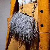 Классическая сумка ручной работы. Ярмарка Мастеров - ручная работа Сумочка на цепочке / Сумка с перьями. Handmade.