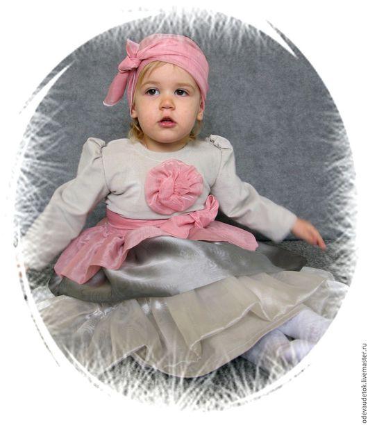 Одежда для девочек, ручной работы. Ярмарка Мастеров - ручная работа. Купить Нарядное платье в винтажном стиле. Handmade. Серый
