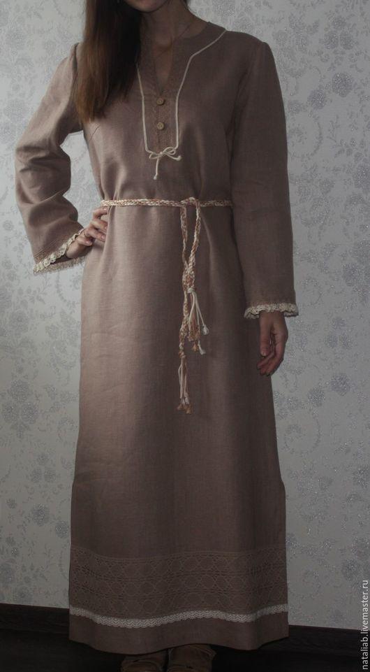 Платья ручной работы. Ярмарка Мастеров - ручная работа. Купить Льняное платье в пол. Handmade. Льняная одежда, льняные ткани
