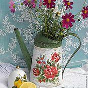 """Для дома и интерьера ручной работы. Ярмарка Мастеров - ручная работа Лейка """"Цветочный чай"""""""" в стиле Шебби-шик. Handmade."""