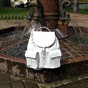 handmade. Livemaster - original item Womens leather backpack