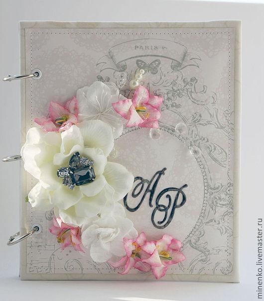 Свадебные фотоальбомы ручной работы. Ярмарка Мастеров - ручная работа. Купить Свадебная книга пожеланий. Handmade. Белый, бумага для скрапбукинга